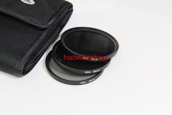 72mm 72 mm ND2 ND4 ND8 Neutral Density Lens Filter With 3 Pocket Case for Canon Nikon