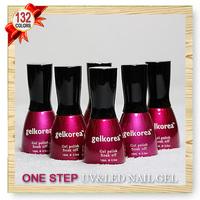 132 Color CNF Nail art UV Gel polish Soak-off Soak off for UV LED Lamp ONE STEP 3 IN 1 Nail GEL 15ml 5oz 12 Pcs Lot)