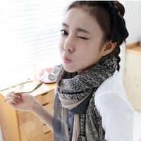 Autumn and winter female super large silk scarf long design cape bali yarn onta scarf 2