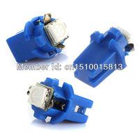 Free shipping 10X 12V white red bule T5 B8.3D  1SMD 5050 Car Gauge LED Speedo Dashboard Dash Wedge Side Light Bulb Lamp