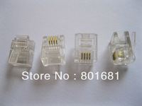 Free Shipping +1000 pcs RJ11 6P4C Modular Plug Telephone Connector 6p4c plug