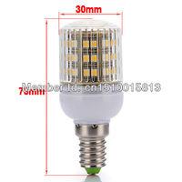 Free Shipping 10pcs/Lot SMD 3528 48 LED 200-240V LED Spot Light E14 Bulb Lamp  white Warm White