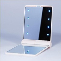 Cheap New Makeup Compact Cosmetic Mirror w/ 8 LED Light Lamp