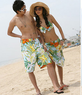 Fashion lovers steel yarn swimwear piece set hot spring swimsuit male beach pants