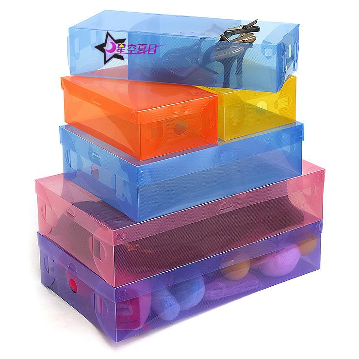 Botas de gaveta caixa de sapato virar caixa de armazenamento caixa de sapato de plástico transparente(China (Mainland))