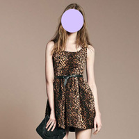 Wholesale 2013 New Women Fashion Sexy Leopard Slim Dress Vest Dress
