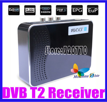 Hot!! HD DVB T2 Terrestrial Receiver DVB-T DVB-T2 MPEG-2/-4 H.264 Support USB/HDMI Mini Set Top Box For RUSSIA/Europe/THAILAND