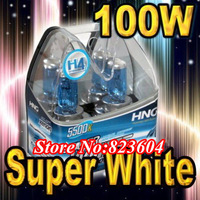 H4 100W 12V Xenon Extreme White Headlight Bulbs x 2 Free Shipping