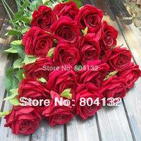16pcs 65cm Length Nice Half Open rose artificial flower flannelet single stem per pice Rose Roses plants decoration