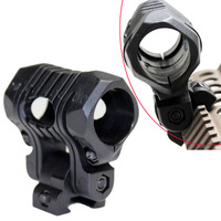 "Tactical   5-Position Adjustable 1"" Flashlight Mount Fits 20mm rail Support Handguard Helmet Picatinny Adapter"