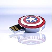 Hot Captain America style usb flash disk 8GB 16GB 32GB 64GB USB Flash Drives