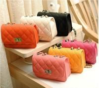 Bags 2014 spring and summer women's handbag black plaid chain mini bag one shoulder cross-body AR389