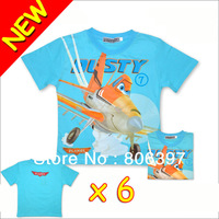 New 6 Funny Novelty Animal Cartoon PLANES DUSTY Kids Children's Tops T-Shirt Tees T shirt 5116#