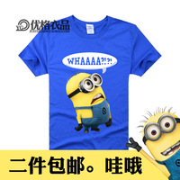 Despicable me 2 small doll milk t-shirt o-neck short sleeve shirt