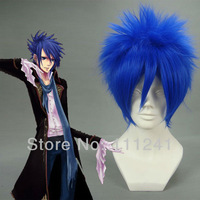 Kaito Blue Short Shaggy Layered Cosplay Costume Wig Free Shipping