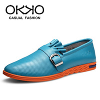Okko male genuine leather men's casual fashion trend of the shoes male shoes breathable shoes 8717