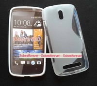mobile phone s line gel case,high quality,silicone case cover,free shipping,For HTC Desire 500