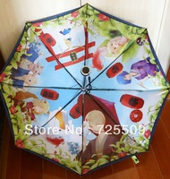Free shipping summer friends, post cat teacher coloring gel UV double dual-use manual open fold umbrella