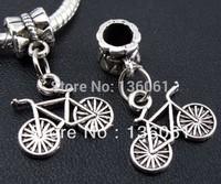 Wholesale Fashion  Antique Silver Vintage Charms  Bike Pendants  DIY Jewelry Making  Free Shipping Gifts 50pcs Z445