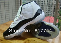 JD11 white/black  Men size basketball Shoes  leather footwear sneakers footwear Sports shoes
