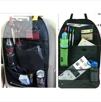 Hot sale Car Accessories Multi Pocket Storage Organizer Arrangement Bag of Back seat of chair,2pcs/Lot Useful Seat Storage case