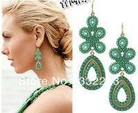 Min.order is $10 (mix order) New women's fashion Bohemia exquisite beads imitation gemstone earrings