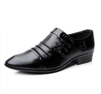 Hot sale 2013 New Fashion Brand British Business Leather Shoes Low Heel Casual  Men Shoes