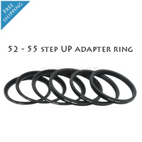 52 - 55 Black Metal step up adapter Ring 52mm to 55mm  Fee Shipping & tracking number