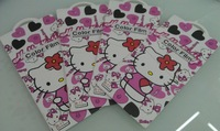 Retail 1 piece Fashion Film Full Body Hello Kitty Screen Protectors FOR iphone 5 5g protective film ,10pc/lot , color film