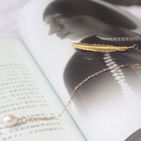 Free Shipping Natural Freshwater Pearl Bookmarks Stationery Gift Fashion Bookmarks