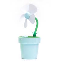 Multifunctional usb mini flower pot fan humidifier mini mute spray laptop cooling pad gift