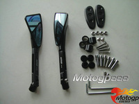 CNC Tomok Rear Side Mirrors Block Plates Black For Suzuki GSXR 600 01-05 04 02 K2 K4