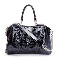 2013 women's handbag fashion bags stone pattern patent leather bag for women bridal bag