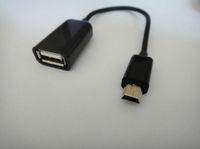 China post office + 1pcs/Lot Mini 5 pin OTG cable,Mini 5 pin Male to USB Female Adapter Cable Black + free shipping