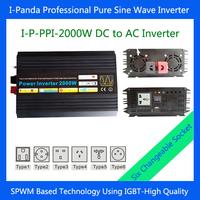 CE RoHS 2000W Off Grid Pure Sine Wave Power Inverter, 4000w Peak power inverter, Solar&Wind DC to AC Inverter dc12v 24v 48v