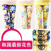 2013 children's pants milk silk pinioning skin-friendly female child basic print ankle length trousers