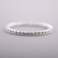 Free Shipping 2013 New Women's Korean Fashion Diamante Gold & Silver Thin Ring