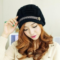 """LASION"" Korean 2013 Women Winter Hats Girls' Warm Hat Fashion Beanies For Women Flowers Cap Hot Selling MZ-08"