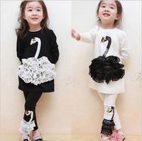 2013 autumn child set female child baby lace long-sleeve casual clothes legging 2 - 7