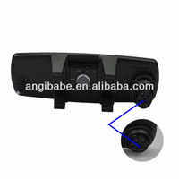 "Free Shipping Car rear view mirror video recorder with 3 lens+2.7 ""TFT LCD+260 degree angle"