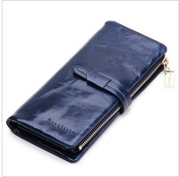 Promotion! Designer Brand cowhide wallet Genuine Leather purses for Women 2013 fashion Evenging clutch mobile phone bag