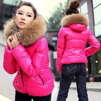 Hot!!!2013 Fashion Women's New Cotton-padded Coat Candy Han Style Thicken With Fur Collars Quilted Jacket 4 Color,Free Shipping