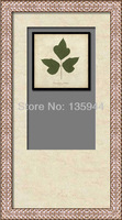 Handpainted Decorate Frame Spray Maple Leaf Trifolium Painting Drawing Paint