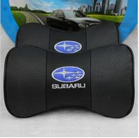 Subaru xv headrest genuine leather headrest car headrest neck pillow car care headrest