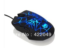 Free shipping! Who hold the spider cracks gaming mouse USB wired mouse laptop mouse luminous silent version
