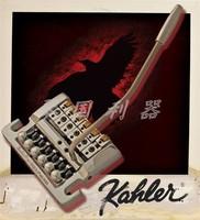 Kahler Electric Guitar Bridge Tremolo System Chrome Silver 7200