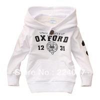 Spring and autumn baby boy sweatshirt 100% long-sleeve cotton infant outerwear 100% cotton children cap pullover top