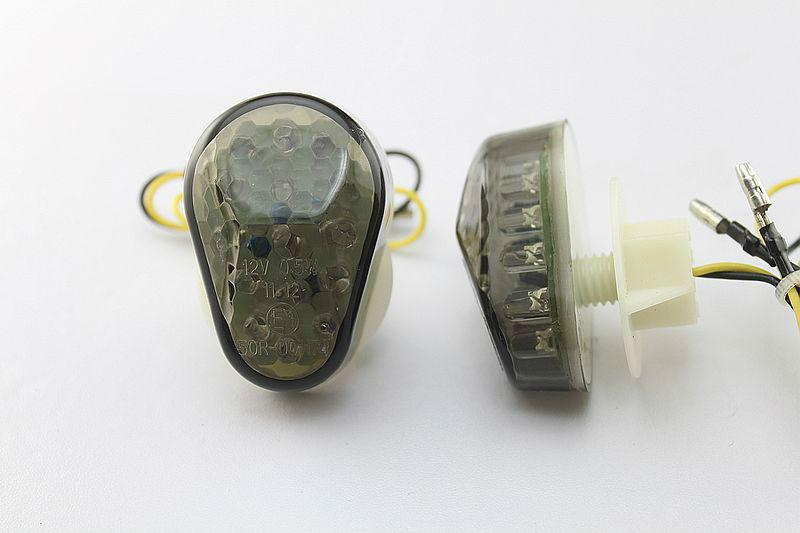motorcycle parts motorcycle parts Flush mount LED Turn Signals For Kawasaki ZX6R 1998 1999 2000 2001 2002 Somke(China (Mainland))