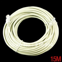 New 45FT 15M CAT6 CAT 6 Flat UTP Ethernet Network Cable RJ45 Patch LAN Cord