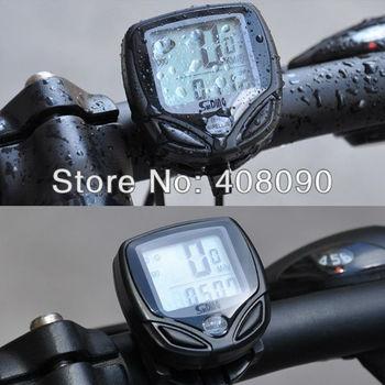 Велосипед велоспорт беспроводной жк-компьютер пробега спидометр водонепроницаемый LB0240
